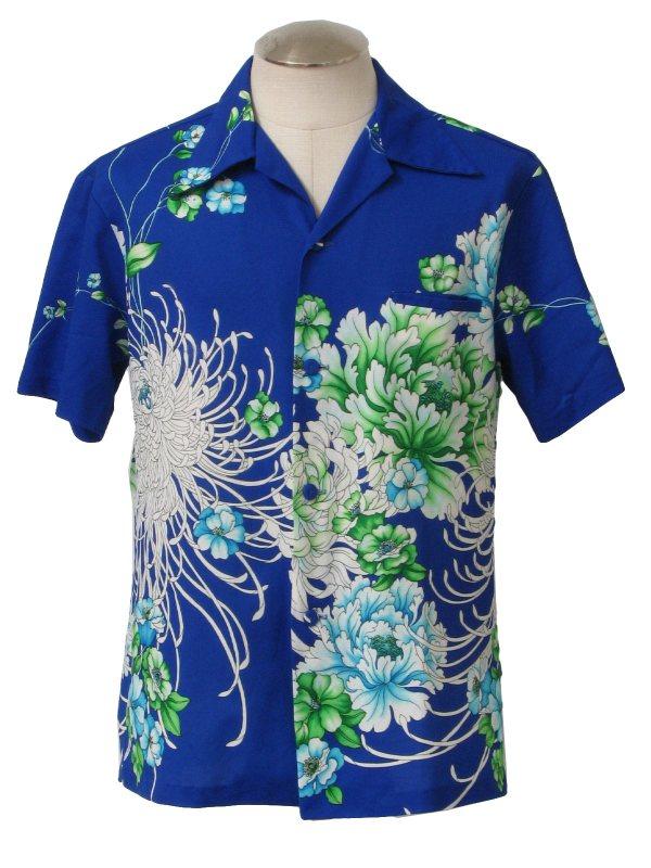 70s Hawaiian Shirt Sidan Hawaii -sidan Hawaii- Mens