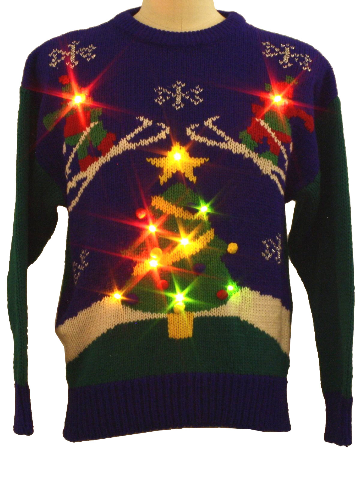 1980s Totally 80s Lightup Ugly Christmas Sweater Totally