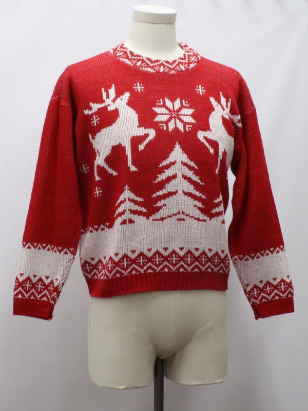 Womens Ugly Christmas Reindeer Sweater - Label