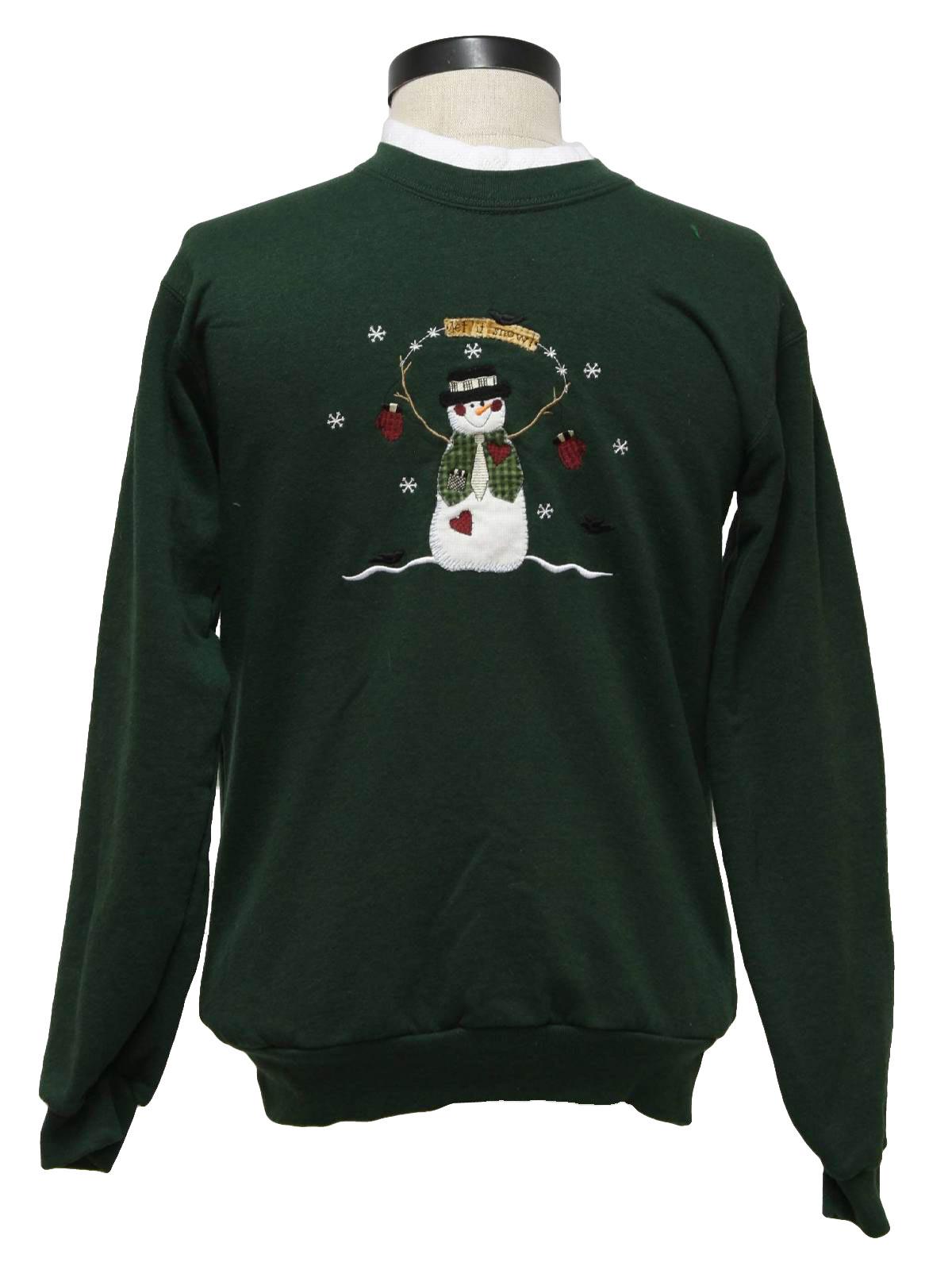 Womens Ugly Christmas Sweatshirt Top Stitch  Womens