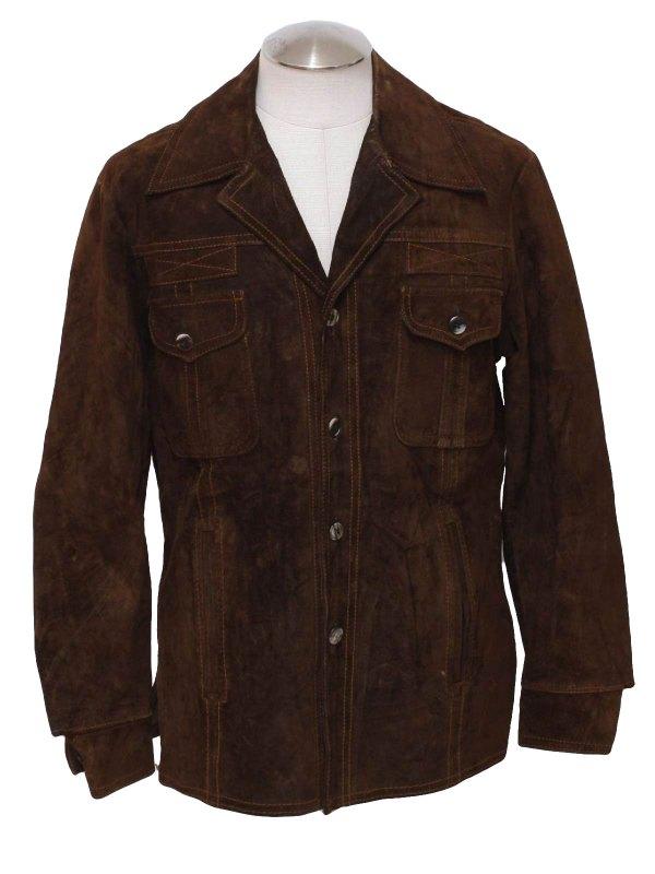 1970s Mcgregor Leather Jacket 70s -mcgregor- Mens Dark