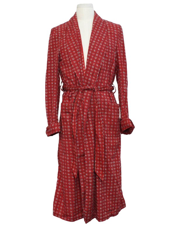 1950' Vintage State Maine Mens Robe 50s -state