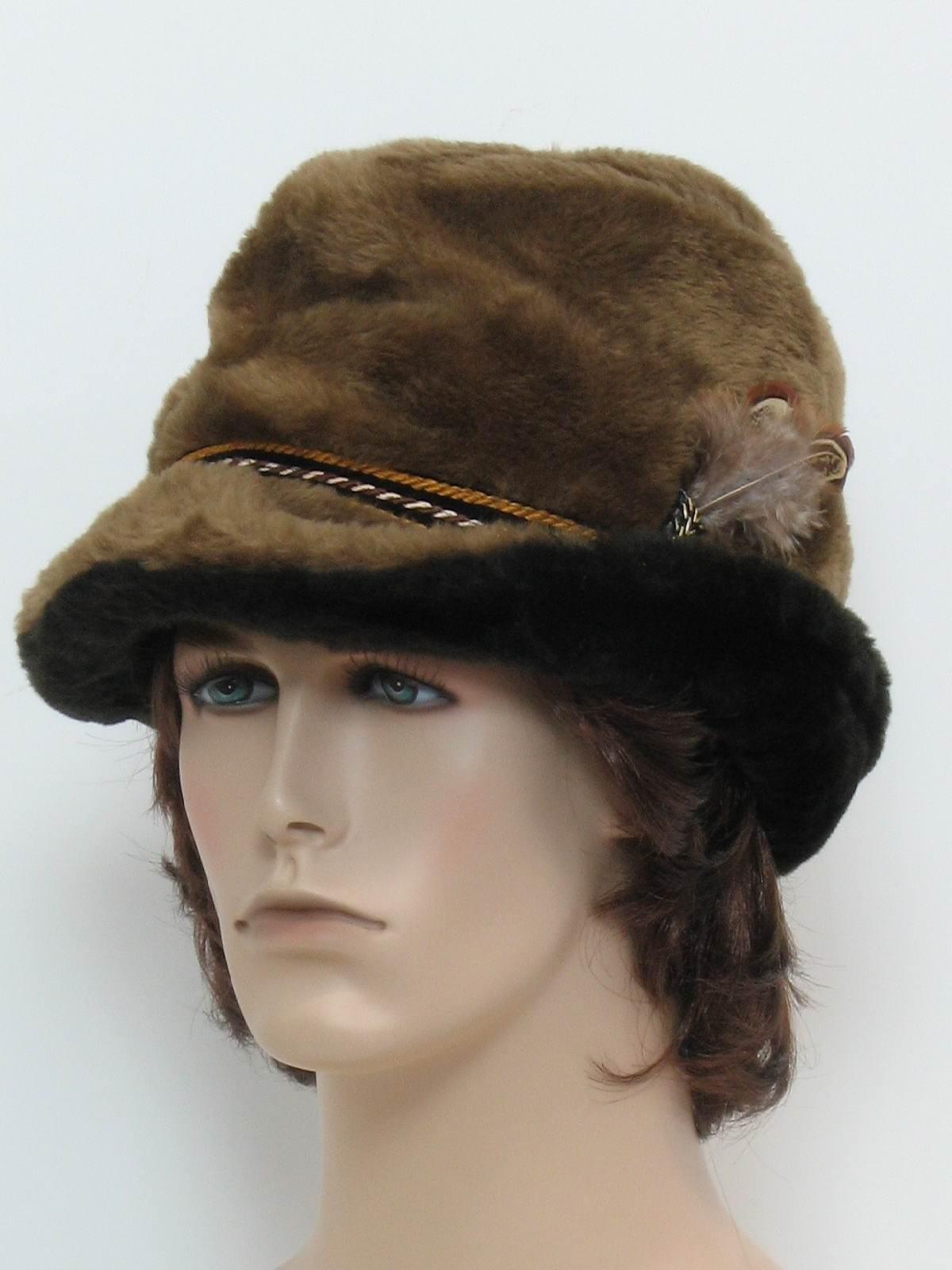 Retro 1960s Hat 60s Union Label Mens light and dark