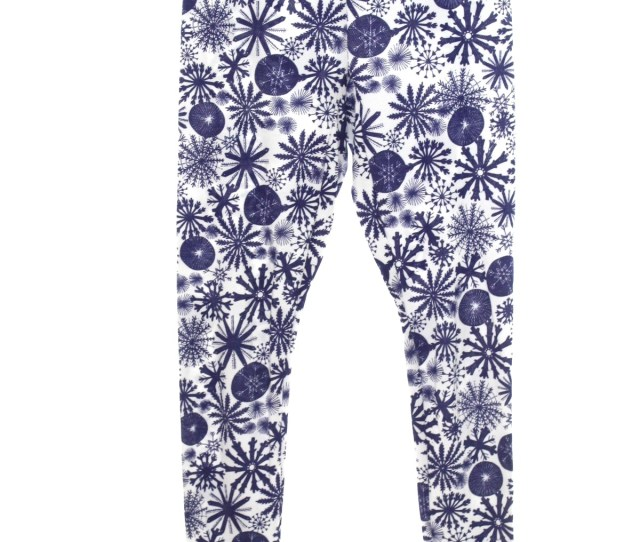 Christmas Pants To Wear With Your Ugly Christmas Sweater Joe Boxer Unisex White Background With Navy Blue Assorted Snowflakes Print With White Trim At