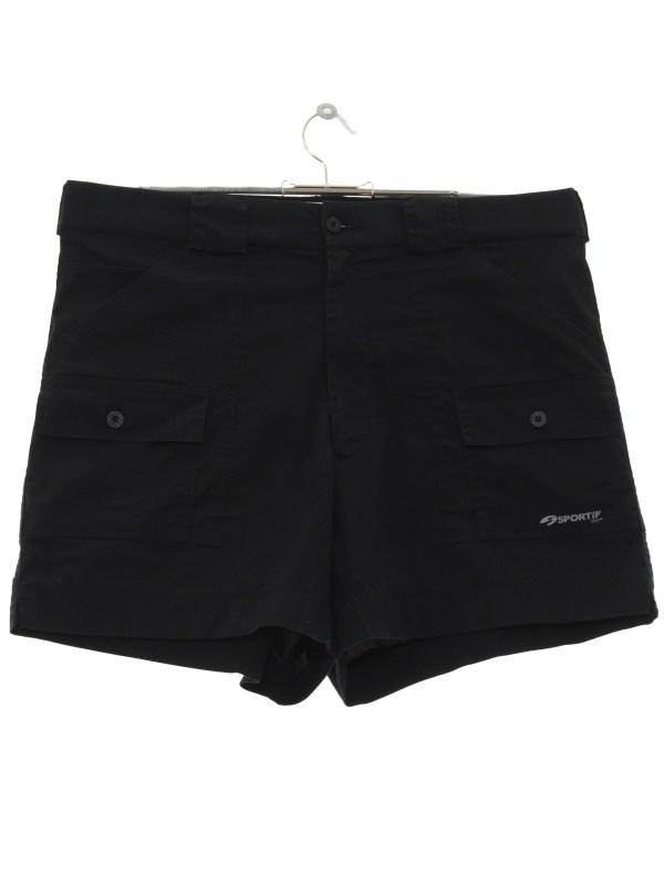 Sportif 1980s Vintage Shorts 80s -sportif- Mens Black