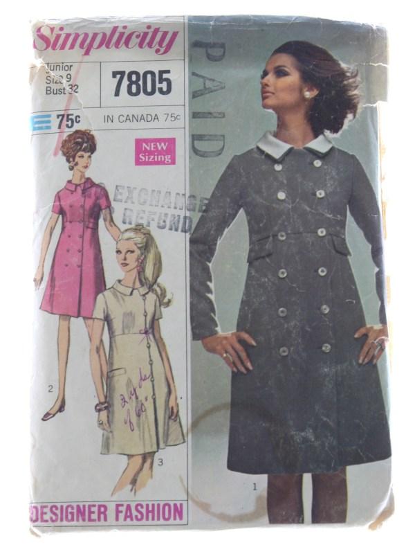 Sixties Sewing Pattern 1967 -simplicity Designer Fashion