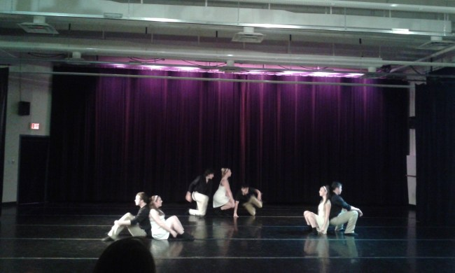 """Dancers perform """"Learning to Build"""" choreographed by Victoria Unterberger."""