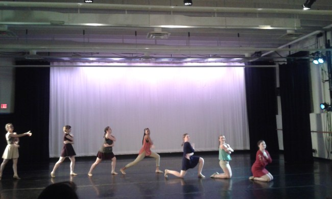 """Dancers perform """"Hang On"""" choreographed by Fiona O'Brien."""