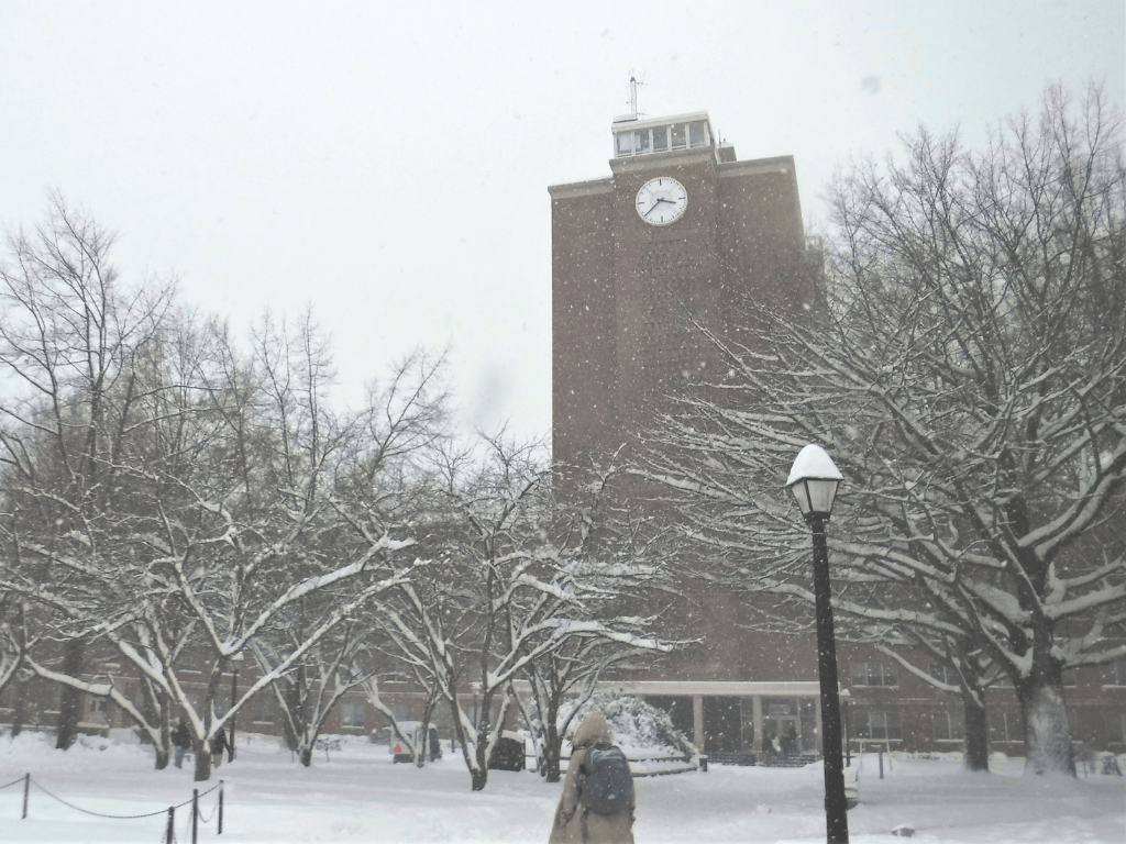 Photos: Snow Blankets Radford University