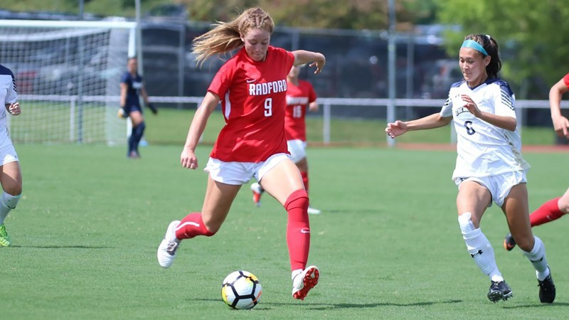 Gabi Paupst scored Radford a rank up in the Big South Conference