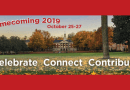 Homecoming Weekend Starts Oct. 25