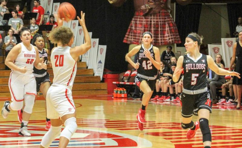 Lydia Rivers (20), and Sydney Nunley in transition as they move the ball up the court