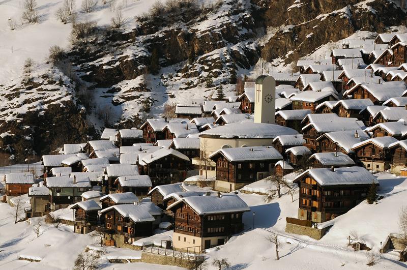 Albinen Pueblo de Suiza