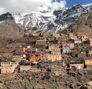 El monte Tubqal, Marruecos