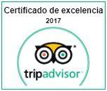 Certificado excelencia 2017 Tripadvisor
