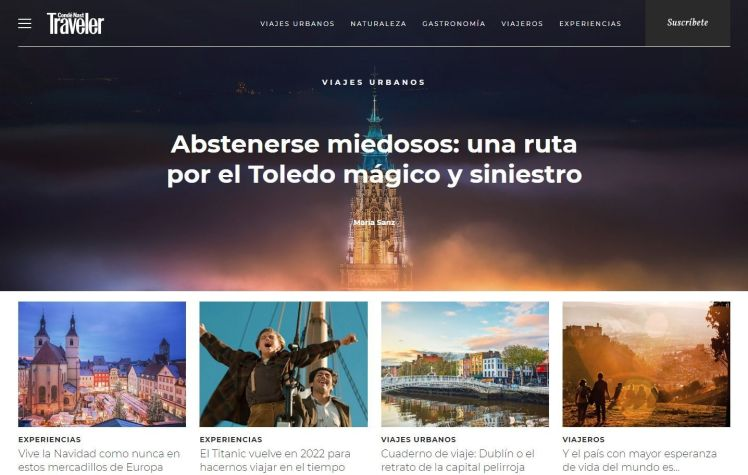Rutas de Toledo, Portada Traveler 2018