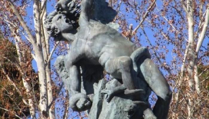 Madrid en bici, Ángel Caído El Retiro