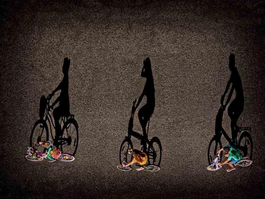 Sombras en bici