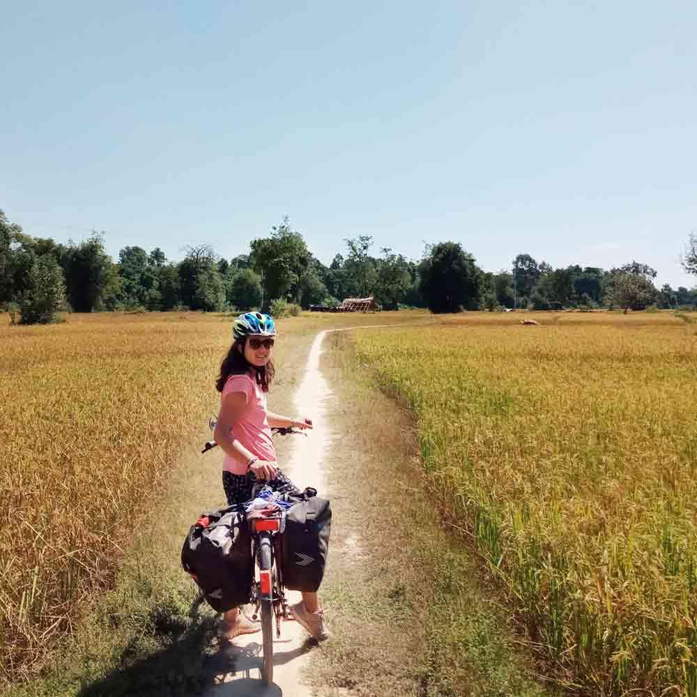 Laura Rincon cicloviajera