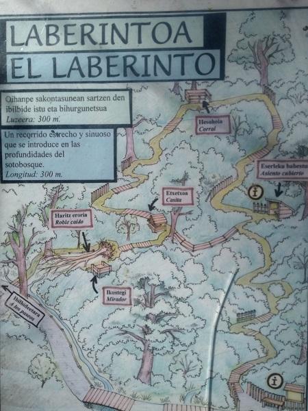 Mapa del laberinto del bosque de Orgi