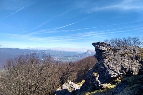 Vista desde Ixuripunta, con San Donato - Beriain al fondo