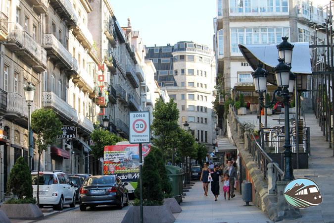 Calle comercial de Vigo