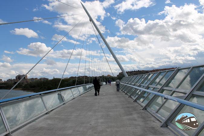 Puente peatonal sobre el Ebro - Zaragoza