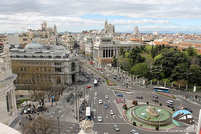 Panorámica del Palacio de Cibeles - Madrid