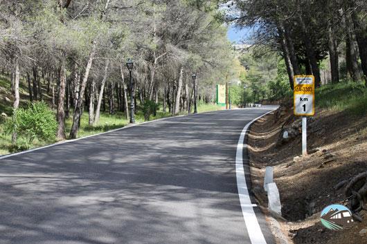 Carretera de subida al castillo