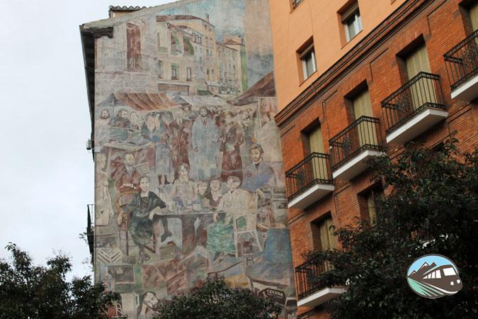 Mural calle Embajadores - Lavapiés