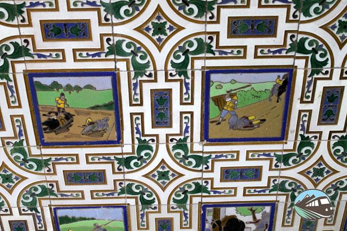 Azulejos de la Sala de Espera - Alcázar de San Juan