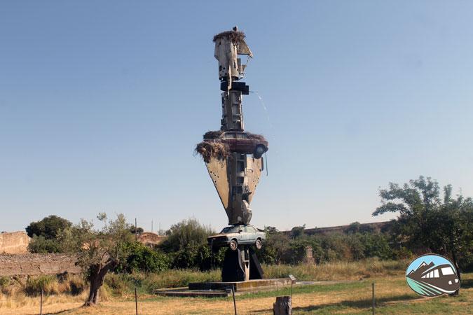 Escultura de Wolf Vostell - Los Barruecos