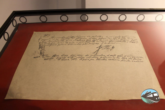 Partida de bautismo de Miguel de Cervantes - Alcázar de San Juan