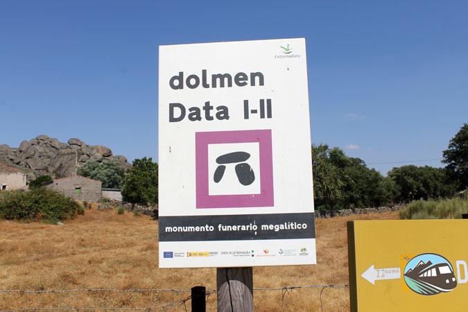 Señalización de los dólmenes - Valencia de Alcántara