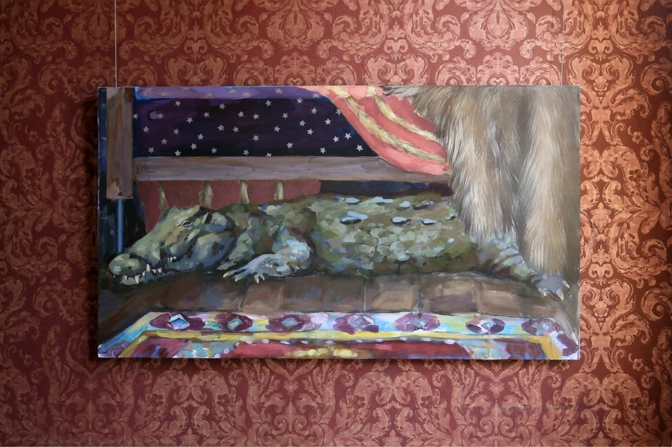 crocodile painting in exhibition in manor