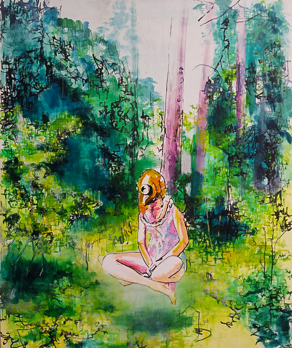 Image of Forest painting by Ruta Matuleviciute