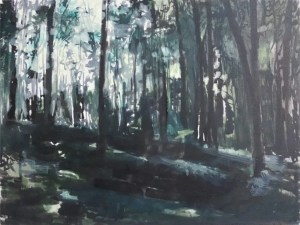 Image of Park painting by Ruta Matuleviciute