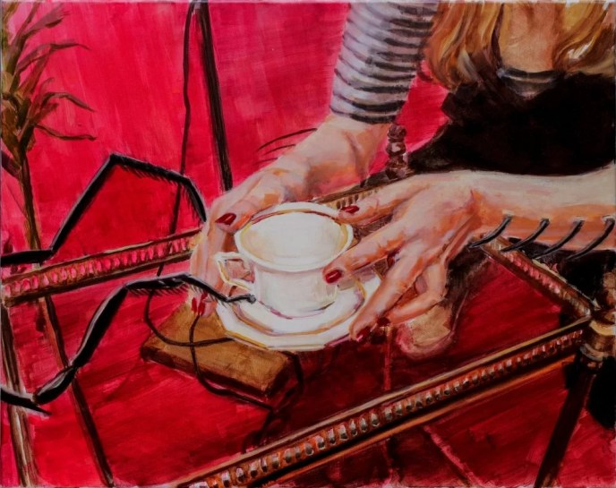 Image of Tea Party painting by Ruta Matuleviciute