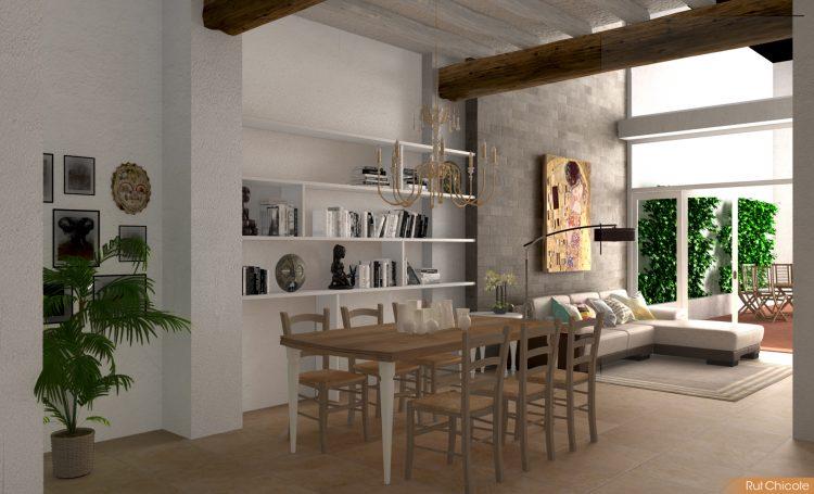 Diseño-de-casa-comedor-rustico-contemporaneo-blanco