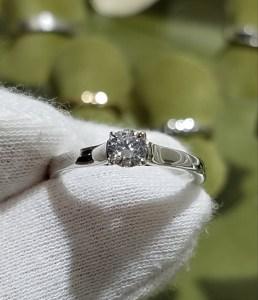 婚約指輪 エンゲージリング(平打ちタイプ)