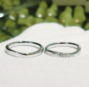 結婚指輪 マリッジリング(ウェーブタイプ)