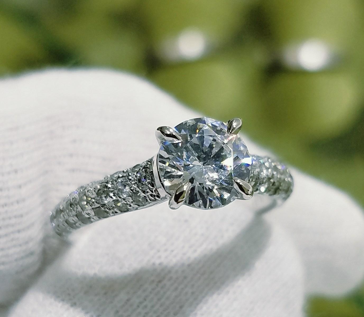 婚約指輪 エンゲージリング(パヴェタイプⅢ)