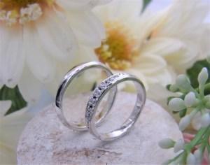 結婚指輪 甲丸幅広リング