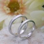 結婚指輪 テクスチャーリング4