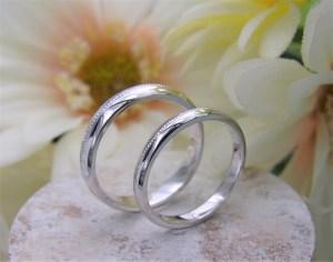 結婚指輪 ミルグレインリング(センター)