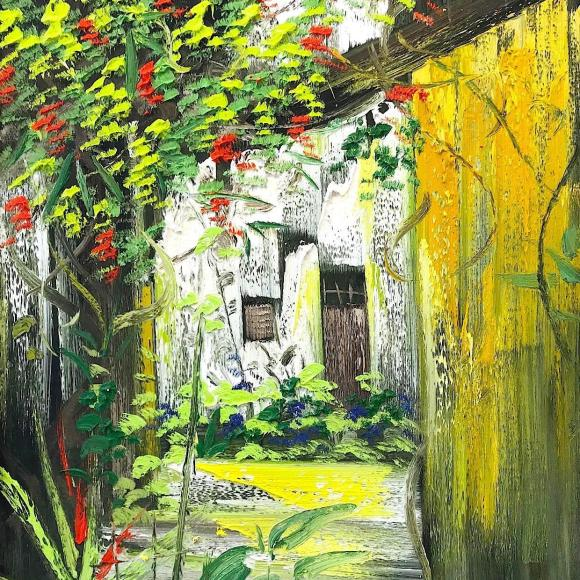 Vines in the alley 100x120 cm - Le Minh Duc - Luxembourg Art