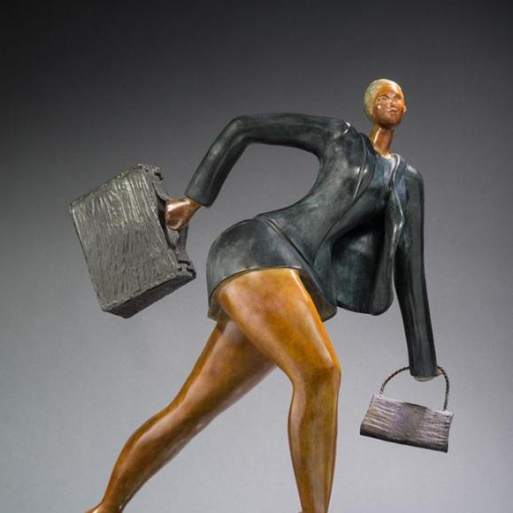 Voyage Voyage 780 x 600 x 520 cm bronze 21kg - Ruth Gallery Luxembourg - Françoise Abraham