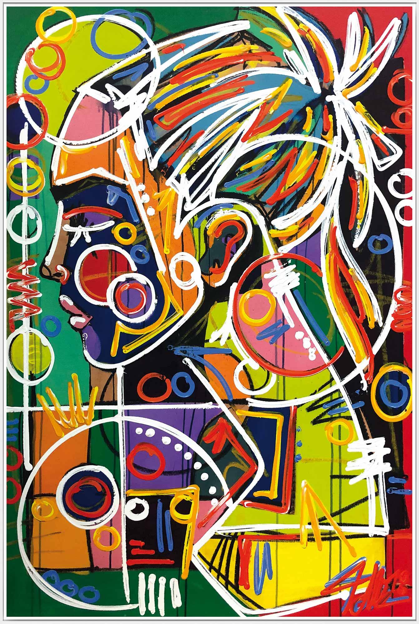 Amber Sheet 120x80cm cm framed - David Tollmann - Art Luxembourg