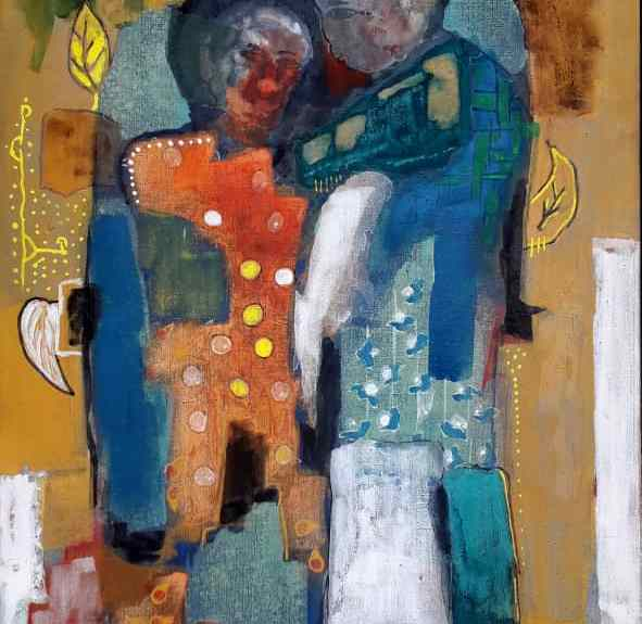 Câlins - Emile Youmbi - Ruth Gallery Luxembourg