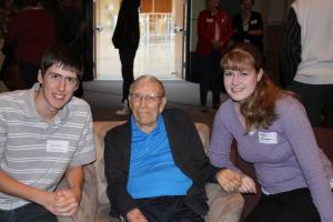At Grandpa Max's 100th Birthday Party
